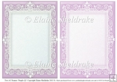 2 x A5 Purple (2) Lace Frames for Card Making & Scrapbooking