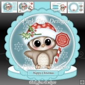 Santa Stop Here Olivia Owl Shaped Card Kit