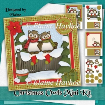 Christmas Owls card Kit