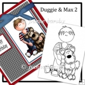Duggie And Max Digital Boy And Dog Stamp
