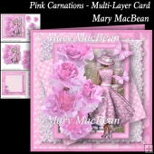 Pink Carnations - Multi-Layer Card