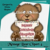 Message Bear 4 Single Clipart