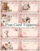 Vintage Memories Post Card Toppers Set