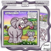 I LOOK UP TO YOU Elephant and Son 8x8 Decoupage Kit