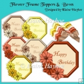 Flower Frame Toppers and Bows