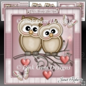 Valentine Owls 2 Mini Kit Valentines Day Anniversary Engagement