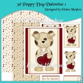 3d Puppy Dog Valentine 1