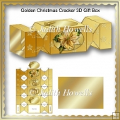 Golden Christmas Cracker 3D Gift Box