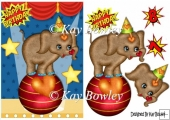 Circus Elephant balancing on a ball A5