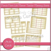 Panda Paws Pink Life Planner Teacher Planning Sheets