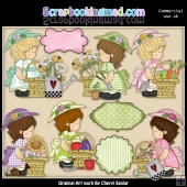 Annabelles Garden Baskets ClipArt Collection