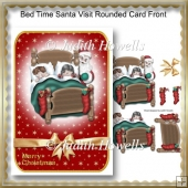 Bed Time Santa Visit Rounded Card Front