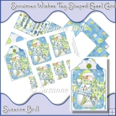 Snowman Wishes Tag Shaped Easel Card