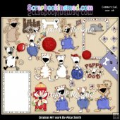 Cats and Dogs ClipArt Graphic Collection