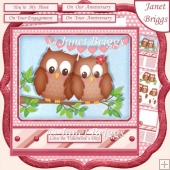 YOU'RE MY HOOT 7.5 Decoupage & Insert Kit Various Occasions