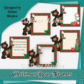 Christmas Bear Frame Toppers