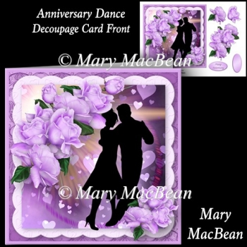 Anniversary Dance Decoupage Card Front