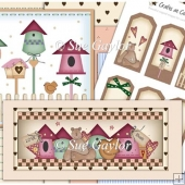 Country Birdhouses Card Kit