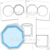 CU Octagon Shaped Card Kit Template