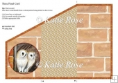 Tri Fold Meadow's Edge Barn Owls Three Panel Card Sheet