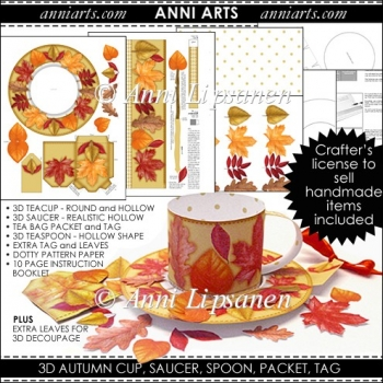 Autumn/Fall 3D Cup: Falling Leaves