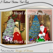 2x Traditional Christmas Card Fronts