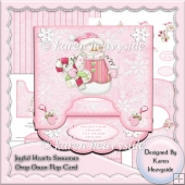 Joyful Hearts Snowman Drop Down Flap Card