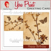 Fall Blossoms Happy Birthday Full Card & Card Front