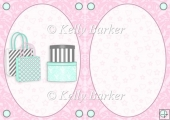 Boxes & Bags in Mint & Pink A5 Insert