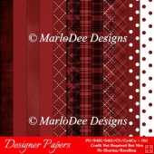 All Dark Reds A4 Size Digital Papers Package