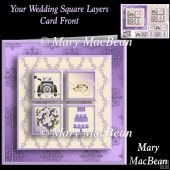 Your Wedding Day Square Layers Card Front