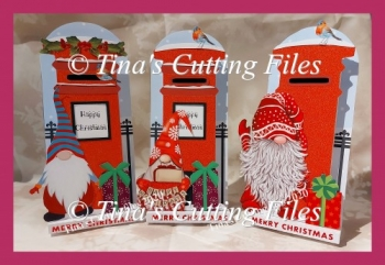 Dimensional Stand Up Christmas Letter Box card GONKS GNOMES