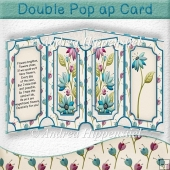 Double Pop Up Card Flowers