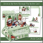 Christmas Up North Rectangle Pop Up Box Card