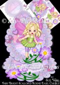 Fairy Bright Scalloped Round Easel Card Mini Kit