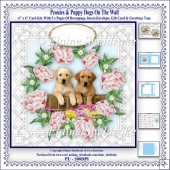 Peonies & Puppy Dogs On The Wall - 6 x 6 Card Kit