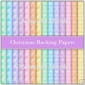 14 A4 Christmas Backing Papers