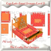 Cup Cake Sliding Easel Drawer Card 3