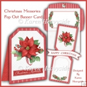 Christmas Memories Pop Out Banner Card