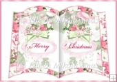 Christmas Roses Open Book Insert