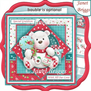 BABY BEARS 1st CHRISTMAS To or From Baby 7.5 Decoupage & Insert
