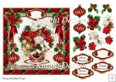 Christmas In Bloom Card Front