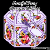 Fanciful Pansy Hexagon Gift Box