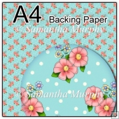 ref1_bp91 - Turquoise Pink Flowers