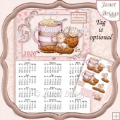 CHOCOLATE FIX 2020 A4 UK Calendar with Decoupage Kit
