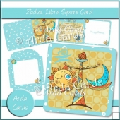 Zodiac Libra Square Card