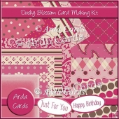 Dusky Blossom Card Making Kit