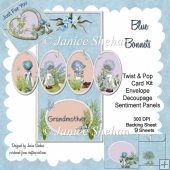 Blue Bonnets 3D Pop and Twist Card Kit