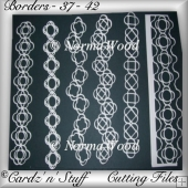 Borders - 37 - 42 DXF, GSD & SVG Cutting Machine Files