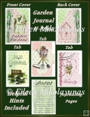 Gardening Journal with Covers, Tab Pages, Journal Pages